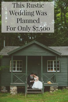 This amazing rustic wedding was planned for only $7500 - read the bride's tips and see how they did it.