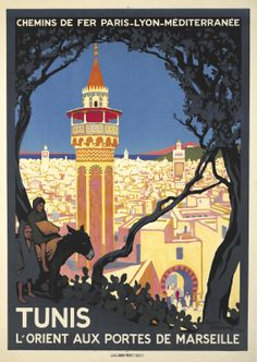 Africa - Tunisia Roger Broders, Tunis, 1920 Vintage Travel Poster
