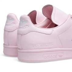 womens adidas stan smith white light pink shoes