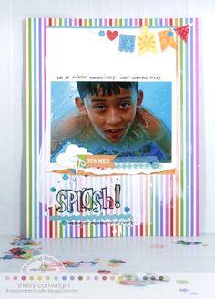 Doodlebug Design Inc Blog: Fruit Stand Collection Layout Inspiration | Sherry Cartwright