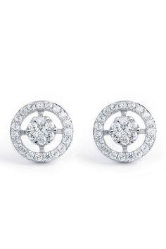 Bijoux Majesty .50 Ct Diamond Studs In 14K White Gold