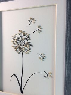 Pebble Art Dandelion Art Love Dandelions Dandelion Decor Stone Pictures Pebble Art, Stone Art, Diy Wall Art, Diy Art, Dandelion Art, Weekend Crafts, Sea Glass Art, Shell Art, Rock Crafts