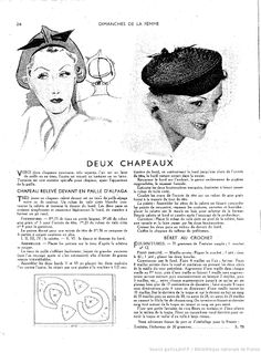 vintage pattern ladies' hats (73фото)