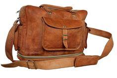 Leather Expandable Duffel Bag