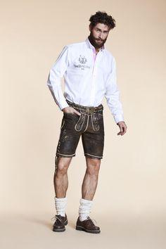 Coole Lederhose im Used-Look mit TrachtenLobby-Hemd
