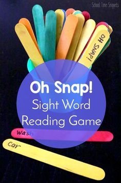 OH Snap! Sight Word Reading Game | School Time Snippets