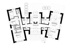 Modern Style House Plan - 3 Beds 3 Baths 2328 Sq/Ft Plan #520-6 Floor Plan - Main Floor Plan - Houseplans.com