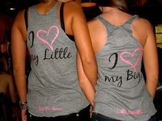 Those are cute! I think color coordinated for a big/little shirt or blue and gold would be amazing!!!
