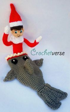 Elfshark... Shark pattern on page & click link on page for Ravelry Elf pattern: Both FREE