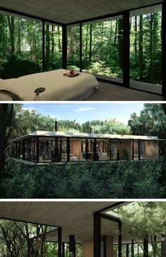 Stunning Modern Container House Design Ideas for Comfortable Life Every Day – Home Interior Design, Exterior Design, Tree House Interior, Interior Livingroom, Interior Garden, Future House, Forest House, House Trees, House Goals