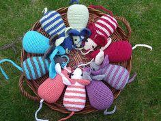 #haken, gratis patroon, Nederlands, amigurumi, Blij dat ik brei: Rekenmuizen, knuffel, kattenspeeltje, speelgoed