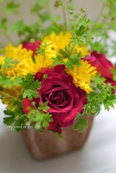 jurnal cu flori : #aranjament  #floridegradina #trandafirrosu #Transilvania #buchetrustic #nuntaromaneasca
