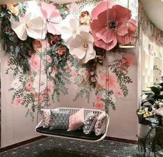 Flowers decorations wedding paper ideas wedding flowers is part of Flower decorations - Salon Interior Design, Salon Design, Spa Design, Design Ideas, Cafe Design, Store Design, Vitrine Design, Wedding Flower Decorations, Wedding Flowers