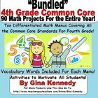 $20.00  VALUE! A must have for any 4th Grade Teacher! Ten math project menus that coorelate with ALL the 4th Grade Common Core Standards.   Each me...