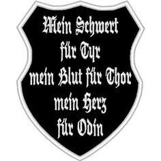 Aufnäher Patch Mein Schwert für Tyr als Wappen