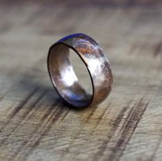 A great alternative bronze wedding ring or a terrific Father's Day idea #mensring #fathersday #weddingring