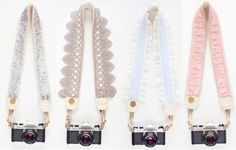 Embellished Camera Straps - perfect for the shutterbug bride!