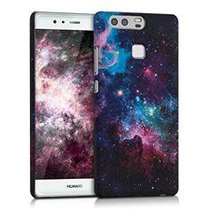 kwmobile Funda Hardcase Diseño universo para > Huawei P9 < en multicolor rosa fucsia negro