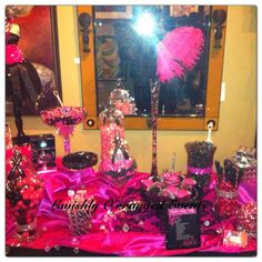 Hot Pink and Black Launch Party Party Ideas   Photo 7 of 10   Catch My Party