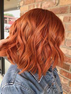 Copper balayage by Vania pixie glamstudio Copper Balayage, Hair Color Balayage, Short Copper Hair, Copper Red Hair, Copper Bob, Short Red Hair, Layered Bob Hairstyles, Simple Hairstyles, Auburn Hair