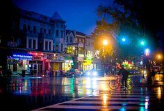 Adams Morgan at Dusk, love the colorful lights!