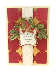 Anna Griffin Christmas Arrangements embossing folders and dies