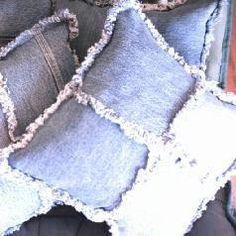 Nuestras usuarias nos dejan algunas ideas para reutilizar la tela vaquera e integrarla en nuestra decoración. #decoración #diy