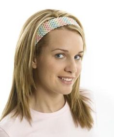 Quick and Easy Headband - May have to whip one of these up for first day of school!