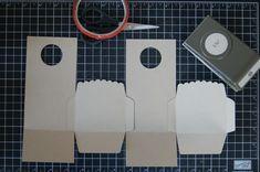 making treat box, funktioniert bestimmt auch ohne den Umschlag. Messen und schneiden.