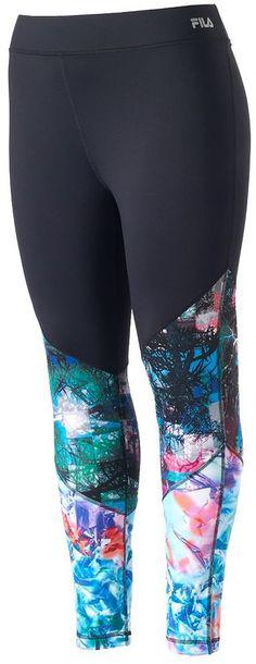 Plus Size Colorblock Workout Leggings