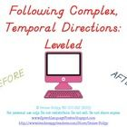 Following Complex Temporal Directions: Leveled - TeachersPayTeachers.com