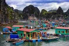 15 Most Amazing And Beautiful Places In The World That You Must See, Floating village in Halong Bay near Cat ba Island, Vietnam