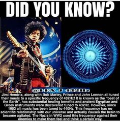 Ever wonder why their music makes us feel great and happy? All music has certain vibration and vibration can physically impact us. Jimi Hendrix, Things To Know, Did You Know, Pharell Williams, Bob Marley, Pseudo Science, Alzheimer, Sound Healing, Black History Facts