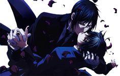 Sebastian x Ciel. Stealing a sweet kiss, Sebastian? *Evil smirk*