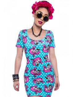 "Women's ""Lexi Gore"" Bodycon Dress by Iron Fist (Blue) #InkedShop #dress #LexiGore #Lexi #style #fashion #womenswear"