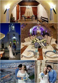 Sky blue chapel wedding in Rethymno area .Link in description. Chapel Wedding, Crete, Real Weddings, Wedding Planner, Sky, Table Decorations, Link, Blue, Image