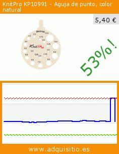 KnitPro KP10991 - Aguja de punto, color natural (Cocina). Baja 53%! Precio actual 5,40 €, el precio anterior fue de 11,38 €. https://www.adquisitio.es/knitpro/kp10991-aguja-punto-color