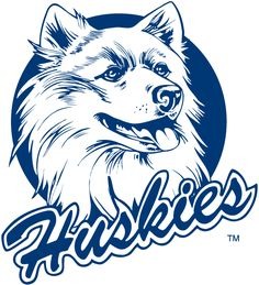 UConn Huskies Primary Logo (1982) - Huskie with script underneath.