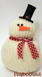 looks simple  - Sweater Snowman!