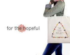 For the hopeful. Our logo bag! #fairtrade #organic #fashion #hope #flowers