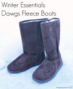 Dawgs Women's Winter Boots Tall Fleece Boots + Coupon Code #ad