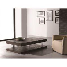 J&M Furniture 175154 857 Modern Coffee Table in Dark Oak
