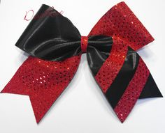 Hey, I found this really awesome Etsy listing at http://www.etsy.com/listing/160517864/stripe-supreme-cheer-bow-in-red-and