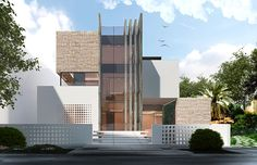 📣 88 Contemporary Residential Architecture Design Model Ideas That Look Elegant 52 Architecture Board, Residential Architecture, Modern Architecture, Villa Design, House Design, Modern Exterior, Exterior Design, Stone Cladding, Glass Facades