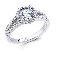 18 KARAT WHITE GOLD WEDDING RING with diamonds - 4628WR