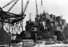 Montreal, Construction de l'Habitat 67 entre 1965 et 1966