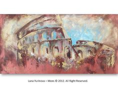 Original Abstract  Acrylic Landscape Painting on by lanasfineart, $315.00