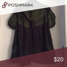 Sweater Green/Brown Sweater with front pockets Sweaters Shrugs & Ponchos