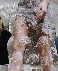 She walked in lace with grace