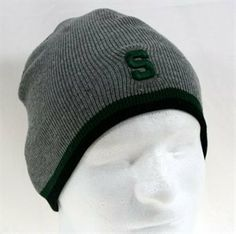Michigan State Spartans Grey Winter Knit Cap (Uncuffed, Adult Size) by NCAA. $9.95. NCAA Officially Licensed Product. Features large team logo on front. One size fits all. This Michigan State Spartans grey knit cap is one size fits all. It features an embroidered team logo on the front. It is made to be worn with the cuff NOT folded up. It measures about 8 inches wide at the base. NCAA Officially Licensed Product.